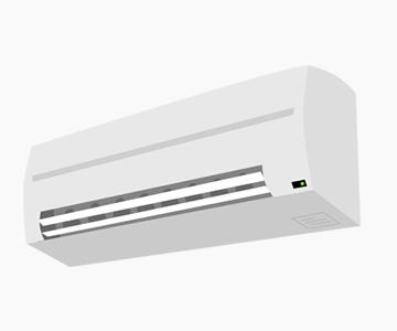 壁掛けタイプのエアコン